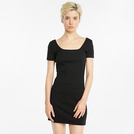 Classics Ribbed Women's Dress, Puma Black, small-GBR