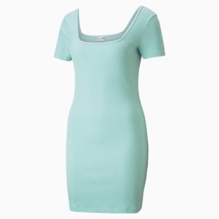 Vestido acanalado Classics para mujer, Eggshell Blue, pequeño