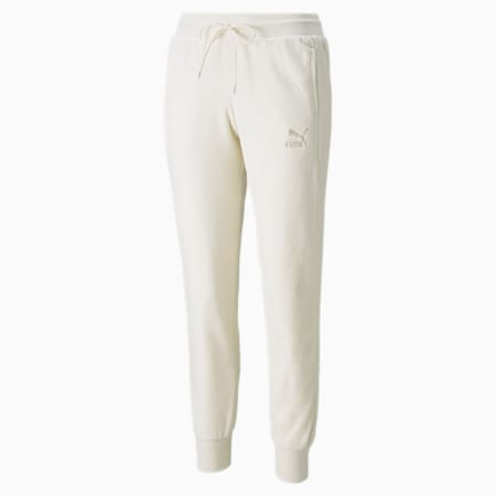 Iconic T7 Velour Women's Pants, Ivory Glow, small