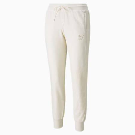 Pantalones Iconic T7 Velour para mujer, Ivory Glow, pequeño