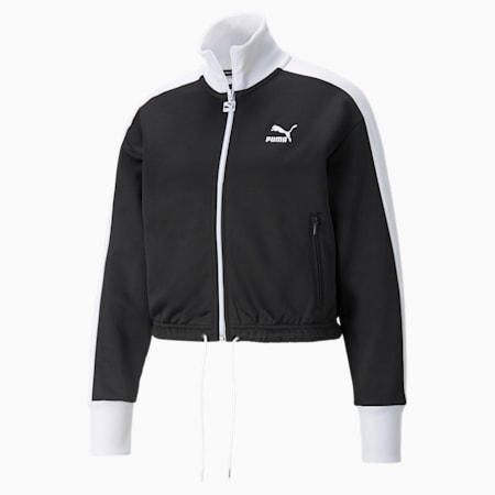 Iconic T7 Cropped PT Women's Jacket, Puma Black, small-GBR