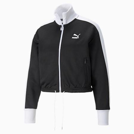 아이코닉 T7 크롭 PT 재킷, Puma Black, small-KOR