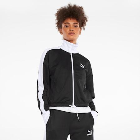 아이코닉 T7 크롭 PT 재킷/Iconic T7 Crop Jacket PT, Puma Black, small-KOR