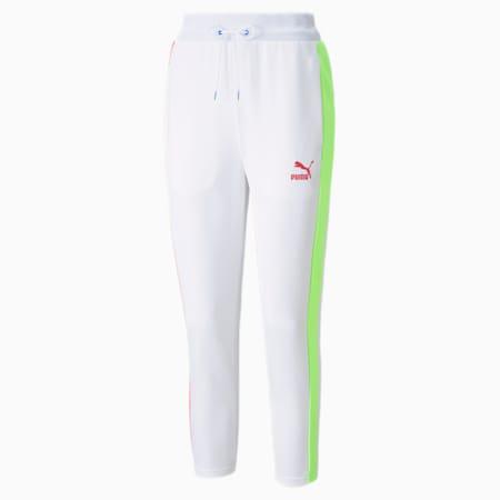 Iconic T7 Cigarette Women's Pants, Puma White-Spectra, small