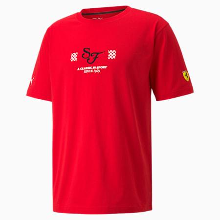 페라리 Race Statement 남성용 티셔츠/Ferrari Race Statement Tee, Rosso Corsa, small-KOR