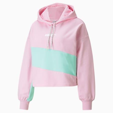 Sudadera con capucha PUMA International para mujer, Pink Lady, pequeño