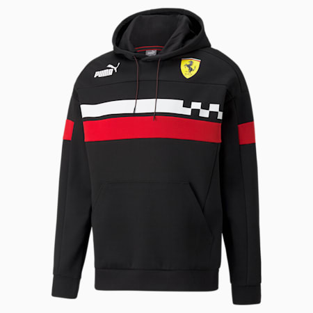 Ferrari Race Speed Driver Series Relaxed Fit Men's Hoodie, Puma Black, small-IND