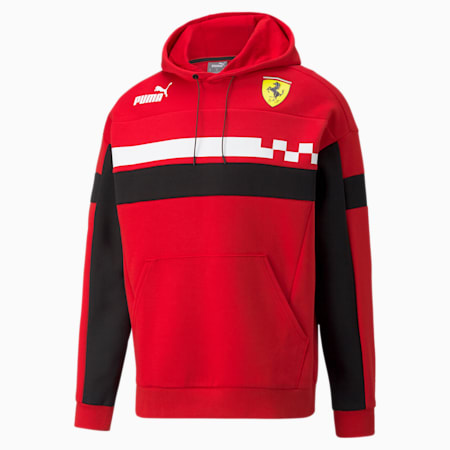 Ferrari Race Speed Driver Series Relaxed Fit Men's Hoodie, Rosso Corsa, small-IND