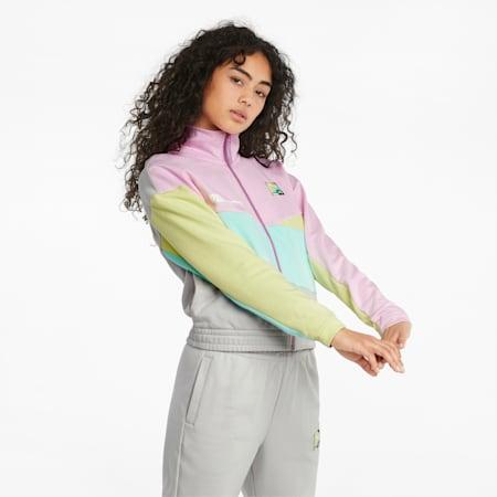 PUMA International Women's Track Jacket, Gray Violet, small-SEA