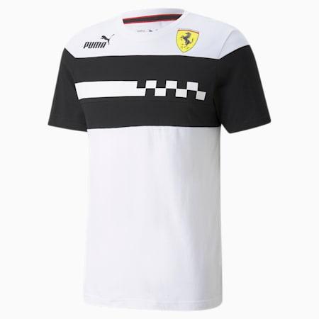 Camiseta Scuderia Ferrari Race SDS para hombre, Puma White, pequeño