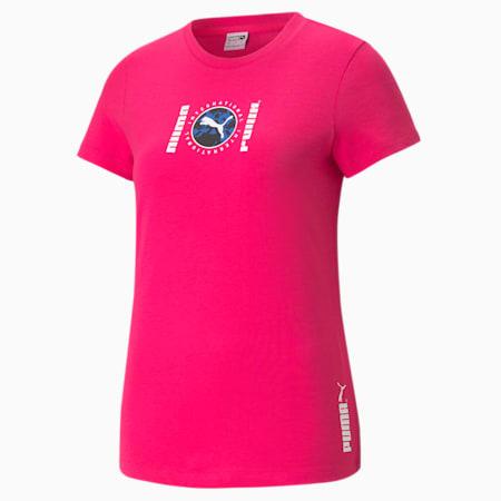 PUMA International Graphic T-shirt dames, Beetroot Purple, small