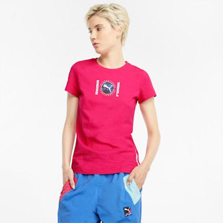 푸마 International Graphic 티셔츠/Puma INTL Graphic Tee, Beetroot Purple, small-KOR