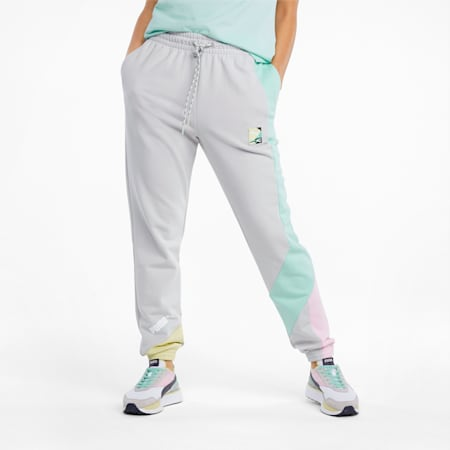 PUMA International Women's Track Pants, Gray Violet, small-SEA
