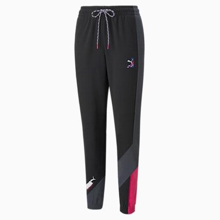 Damskie spodnie dresowe PUMA International, Puma Black, small
