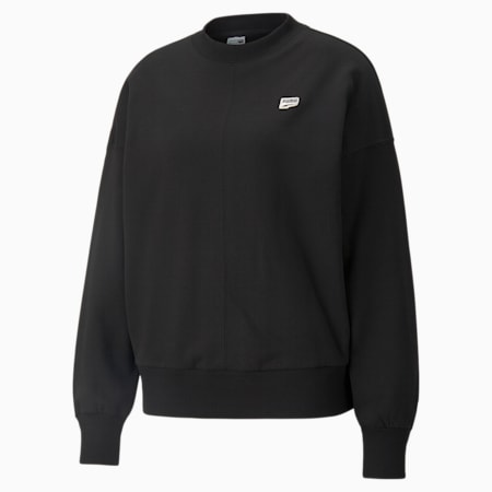 Sweat oversize en French terry Downtown femme, Puma Black, small
