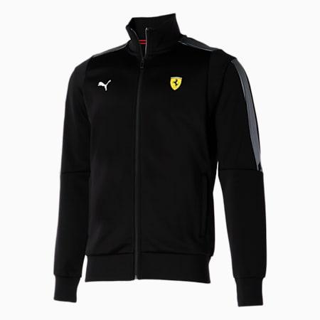 Chaqueta deportiva Scuderia Ferrari Race T7 para hombre, Puma Black, pequeño