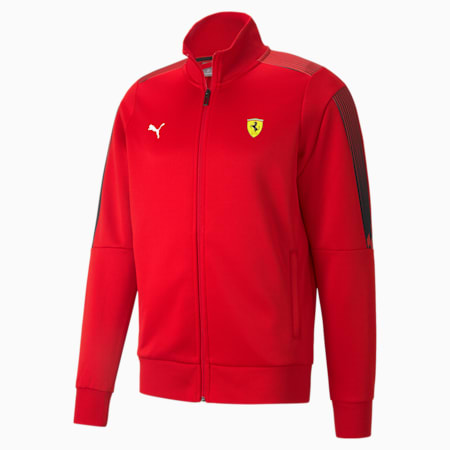 Ferrari Race T7 Men's Track Jacket, Rosso Corsa, small-IND
