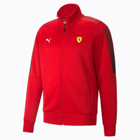 Scuderia Ferrari Race T7 Men's Track Jacket, Rosso Corsa, small-SEA