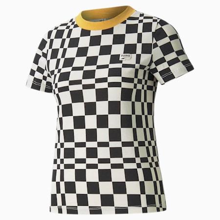 Camiseta estampada Downtown para mujer, Puma Black, pequeño