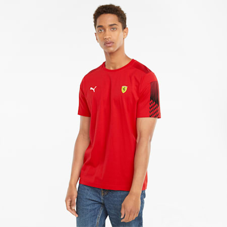 Scuderia Ferrari Race T7 Herren-T-Shirt, Rosso Corsa, small