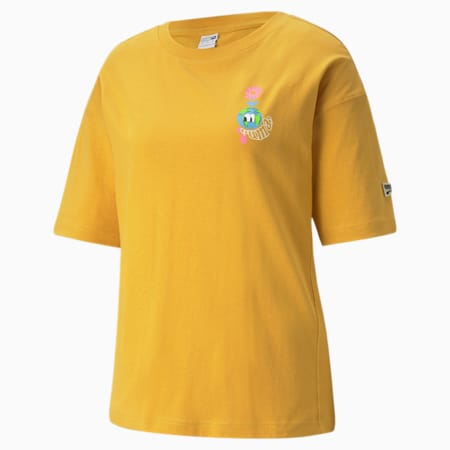 Downtown Graphic Women's Tee, Mineral Yellow, small-SEA