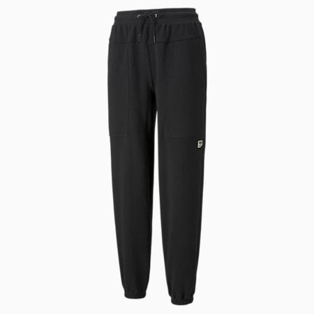 Pantalones deportivos Downtown para mujer, Puma Black, pequeño