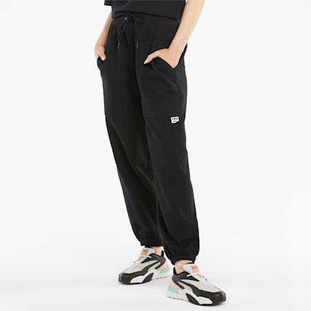 Downtown Women's Sweatpants, Puma Black, small-GBR