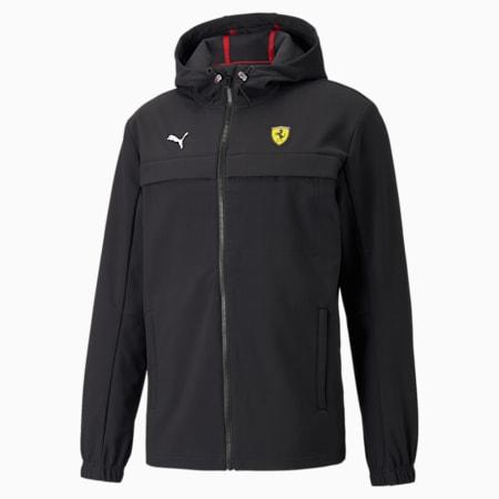 Ferrari Race SoftShell Regular Fit Men's Jacket, Puma Black, small-IND
