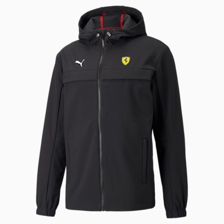 Chaqueta Scuderia Ferrari Race Softshell para hombre, Puma Black, pequeño