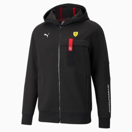 Scuderia Ferrari Race Hooded Men's Sweat Jacket, Puma Black, small-SEA