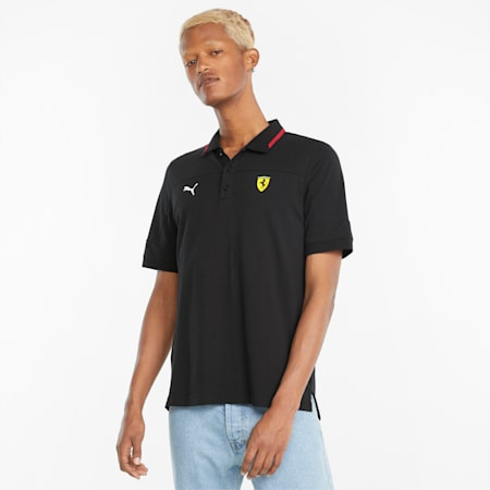 Scuderia Ferrari Race Men's Polo Shirt, Puma Black, small-GBR