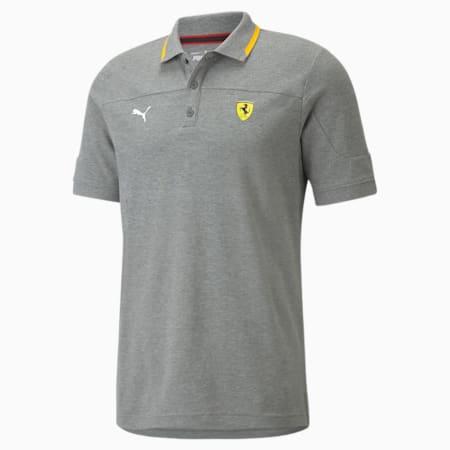 Camiseta tipo polo Scuderia Ferrari Race para hombre, Medium Gray Heather, pequeño