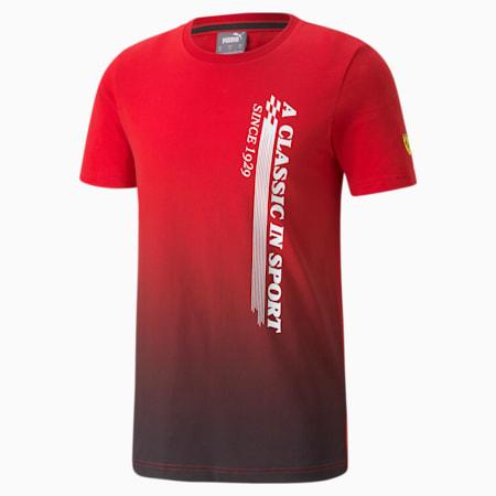 T-shirt graphique Scuderia Ferrari Race, homme, Rosso corsa, petit