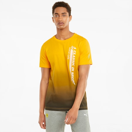 Camiseta estampada Scuderia Ferrari Race para hombre, Saffron, pequeño