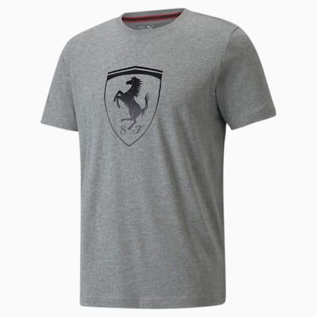 Camiseta Scuderia Ferrari Race Big Shield para hombre+, Medium Gray Heather, pequeño