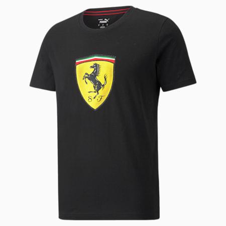 T-shirt à écusson de couleur audacieuse Scuderia Ferrari Race, homme, Puma Black, petit