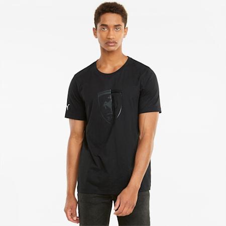 Scuderia Ferrari Race Big Shield T-shirt heren, Puma Black, small