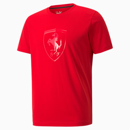 T-shirt homme Scuderia Ferrari Race Big Shield, Rosso Corsa, small