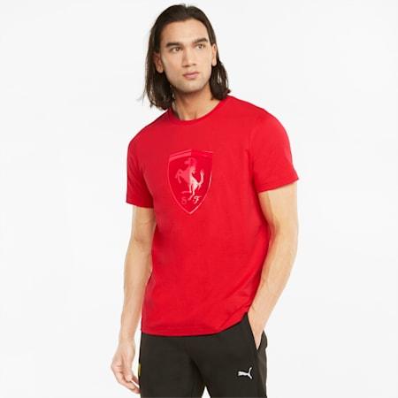 Scuderia Ferrari Race Big Shield T-Shirt für Herren, Rosso Corsa, small
