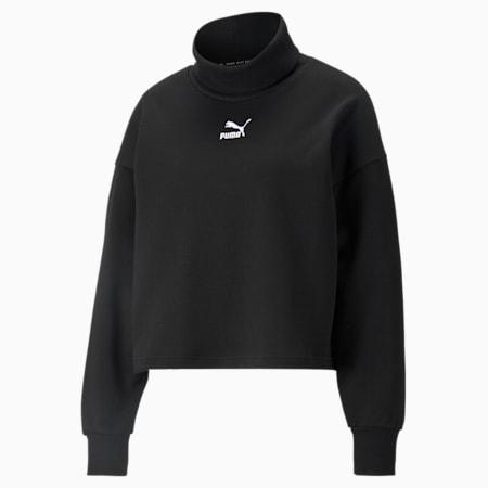 Classics Turtleneck Women's Sweatshirt, Puma Black, small