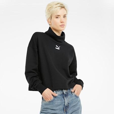 Classics Turtleneck Women's Sweatshirt, Puma Black, small-GBR