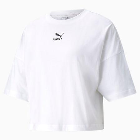 T-shirt in stile boyfriend CLSX donna, Puma White, small