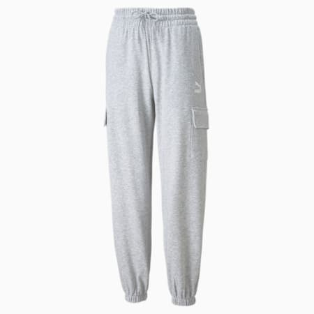 Pantalones deportivosCLSX Cargo para mujer, Light Gray Heather, pequeño