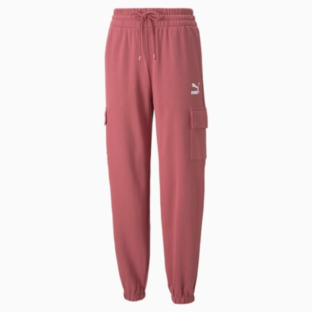CLSX Cargo Women's Sweatpants, Mauvewood-BHeights, small