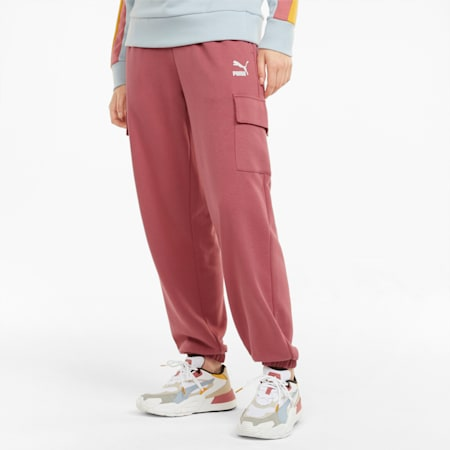 CLSX Cargo Women's Sweatpants, Mauvewood-BHeights, small-GBR