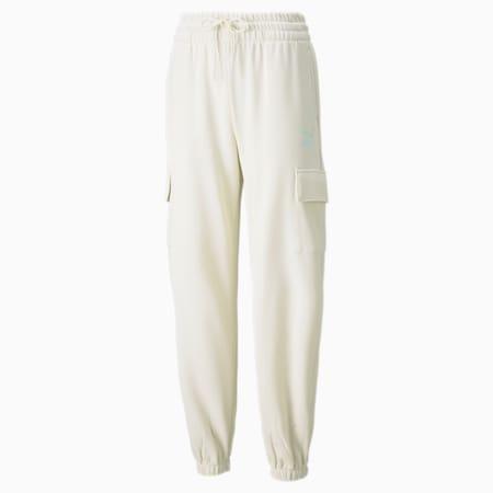 Pantalones deportivosCLSX Cargo para mujer, Ivory Glow-Gloaming, pequeño