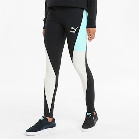 CLSX High Waist Women's Leggings, Puma Black-Gloaming, small-SEA