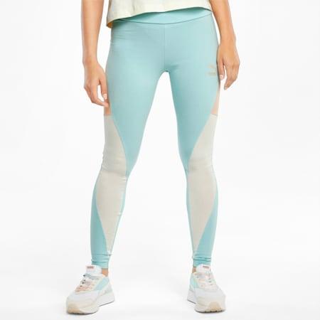 CLSX High Waist Women's Leggings, Eggshell Blue-Gloaming, small