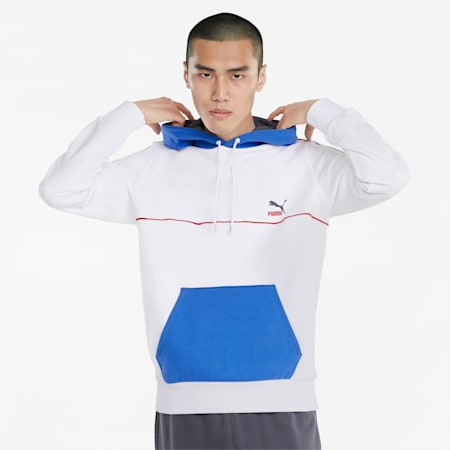 CLSX Piped Men's Hoodie, Puma White, small
