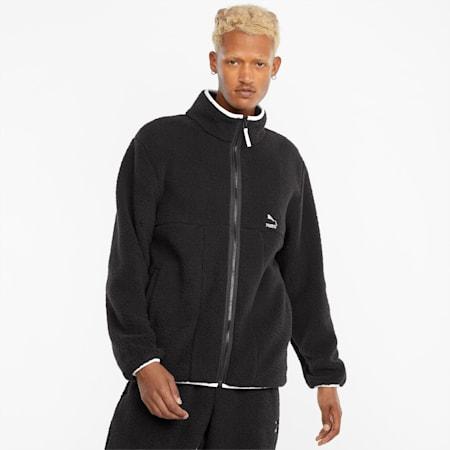 CLSX Sherpa Men's Jacket, Puma Black, small-GBR